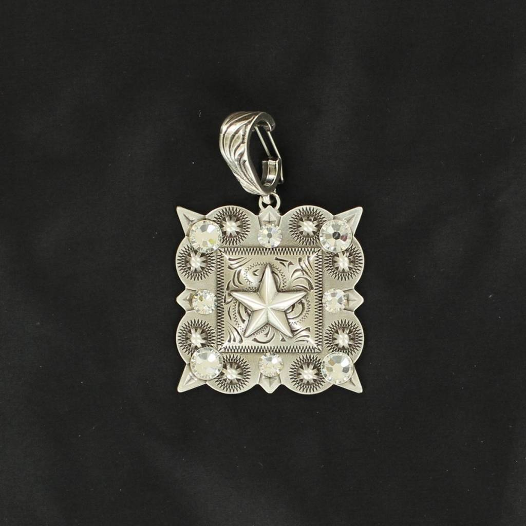 Western Charm Square Berry Pendant