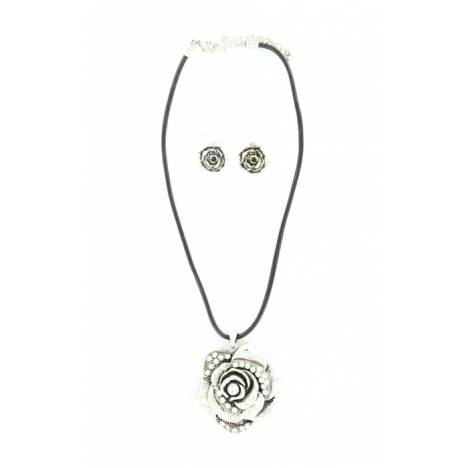 Blazin Roxx Rose/Crystal Necklace Set