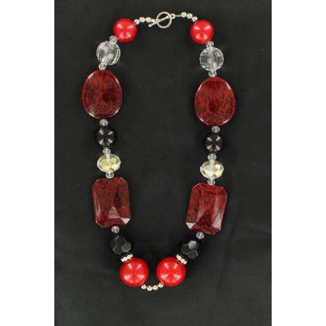 Western Charm Shaped Bead Necklace