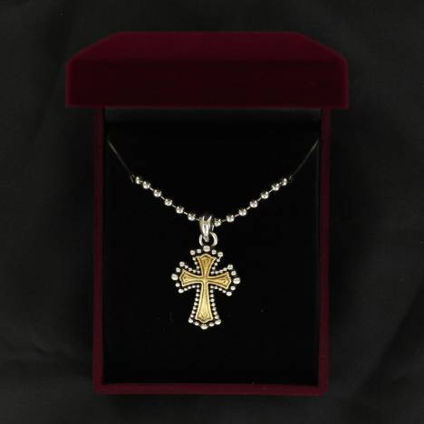 Lightning Ridge Bead Cross Necklace