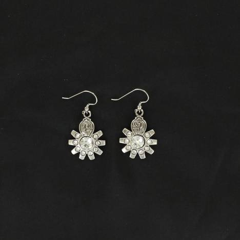 Lightning Ridge Crystal Spur Rowel Earrings