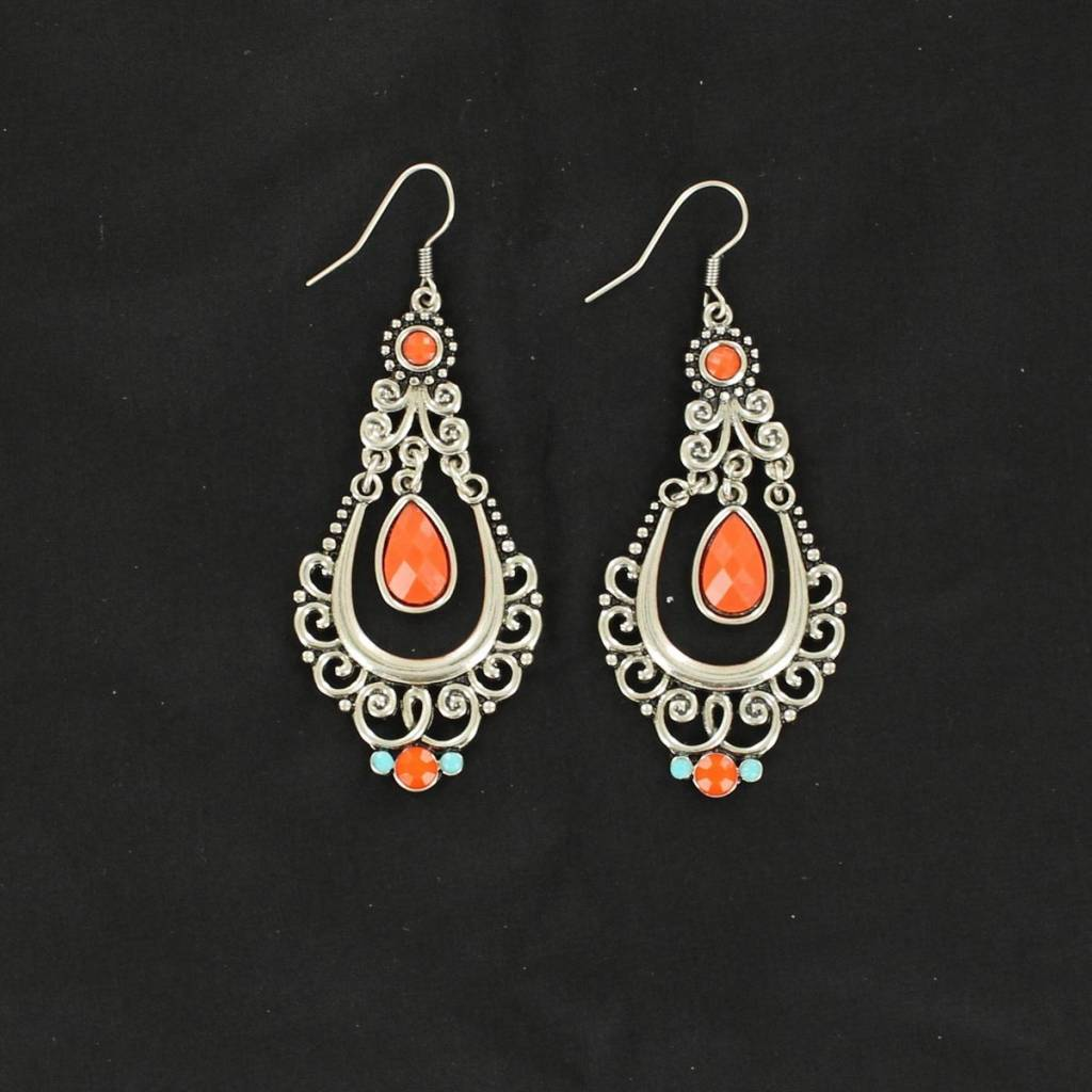 Blazin Roxx Scroll Chandelier Earrings