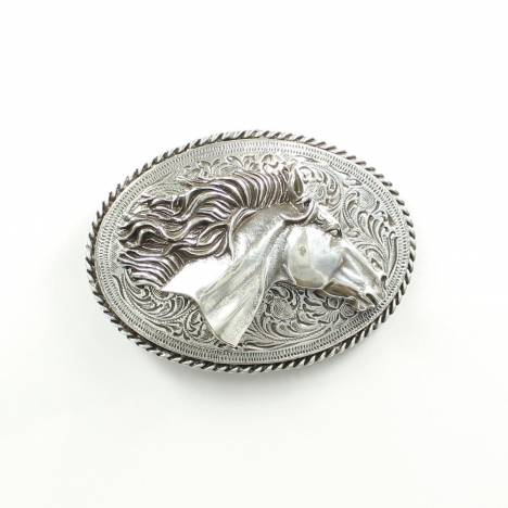 Nocona Ladies Oval Horsehead Buckle