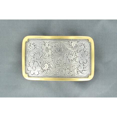 Nocona Rectangle Buckle with Solid Edge