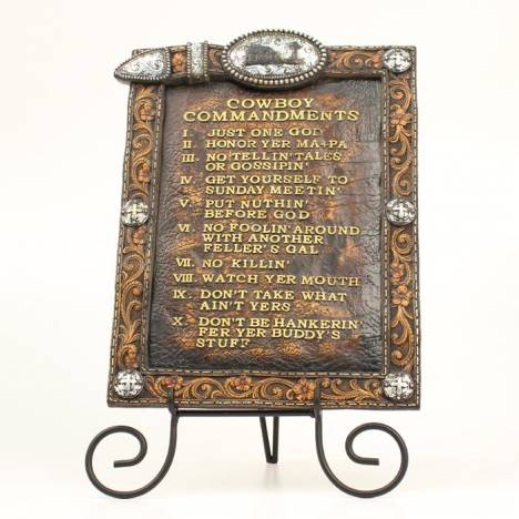 Western Moments Cowboy Commandments/Easel