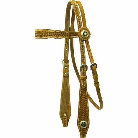Cowboy Pro Brow Headstall with Star Concho