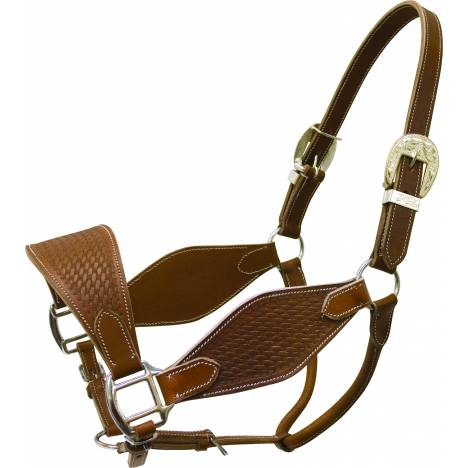 Cowboy Pro Basket Tooled Leather Halter
