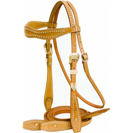 Cowboy Pro Scalloped Bridle with Reins