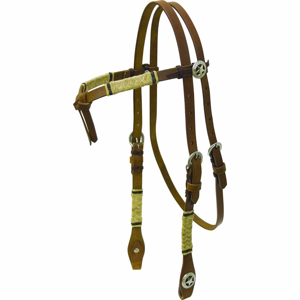 Cowboy Pro Harness Headstall with Rawhide