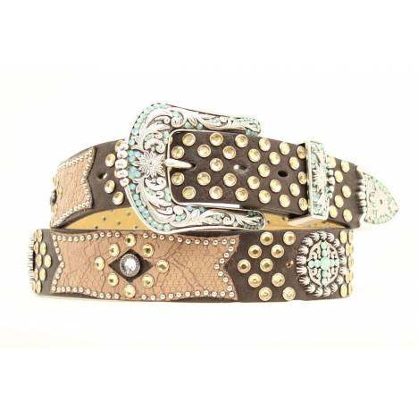 ARIAT Croc and Cross Concho Womens Belt
