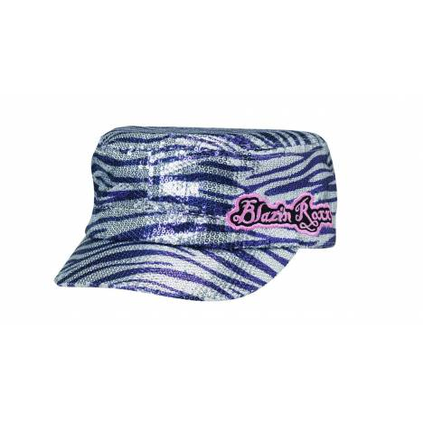 Blazin Roxx Animal Print Sequin Military Cap