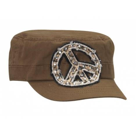Blazin Roxx Peace Sign Military Cap