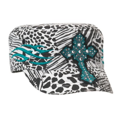 3f73fffc9 Blazin Roxx Ladies Animal Print Military Cap