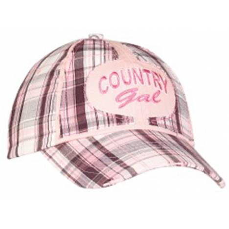Country Gal Plaid Baseball Cap
