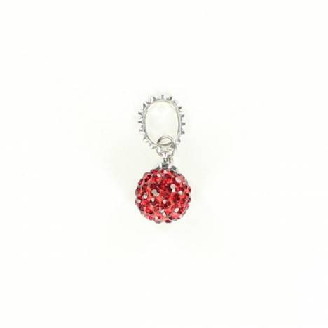 Western Charm Small Round Crystal Charm