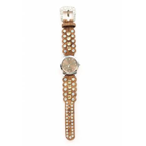 Blazin Roxx Womens Rhinestone Horse Hair Watch