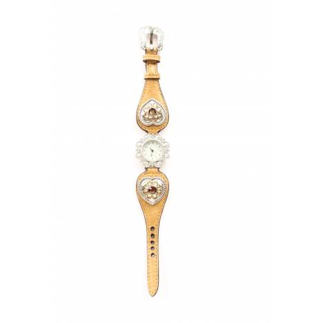 Blazin Roxx Womens Scallop Heart Watch