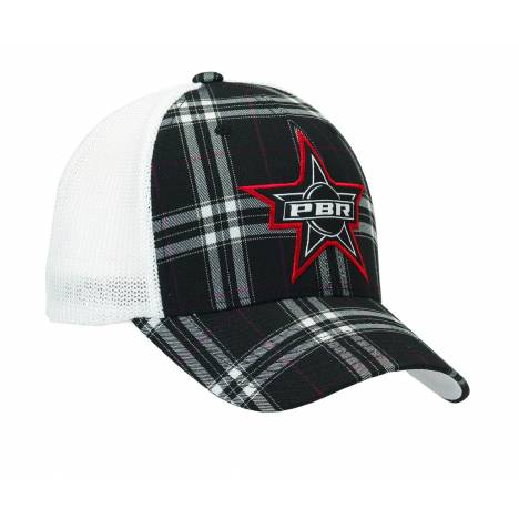 PBR Mens Star Flex Fit Plaid Cap