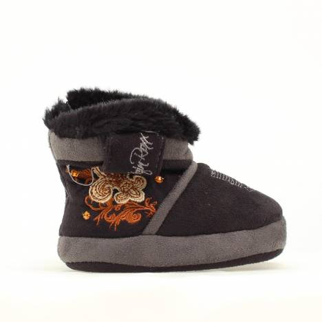 Blazin Roxx Infant Side Fleur Boot Slipper