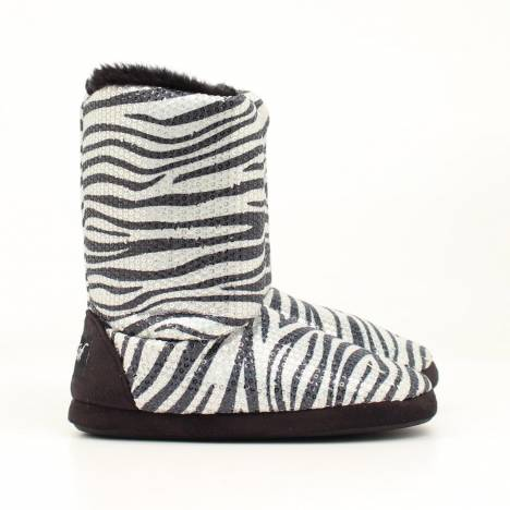 Blazin Roxx Youth Sequined Zebra Slipper