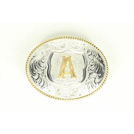 Crumine Oval Initial Buckle