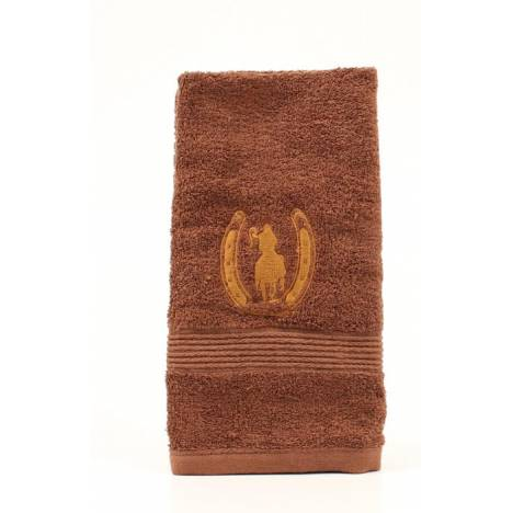Western Moments Horseshoe Rider Hand Towels