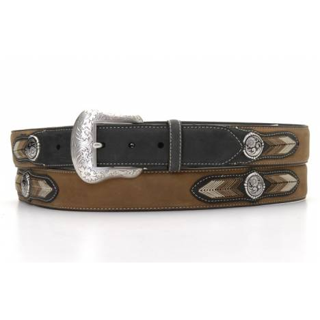 Nocona String Lace Arrow Concho Tab Belt