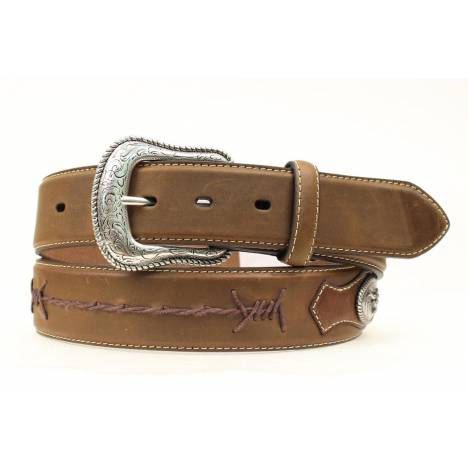 Nocona Barbwire Lace Longhorn Concho Belt