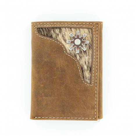 Nocona Tri-fold Hair Corner with Rowel Concho Wallet