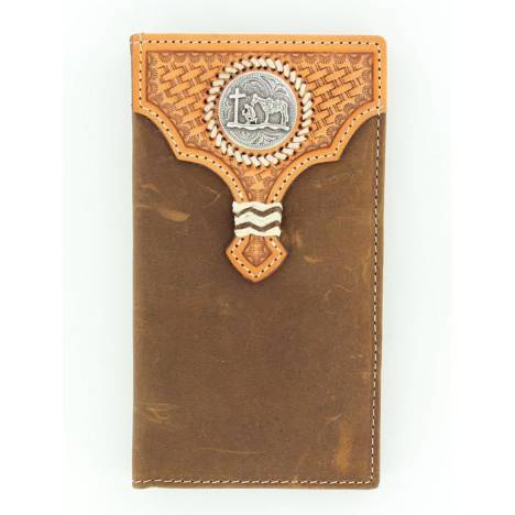 Nocona Rodeo Cowboy Prayer Overlay Wallet