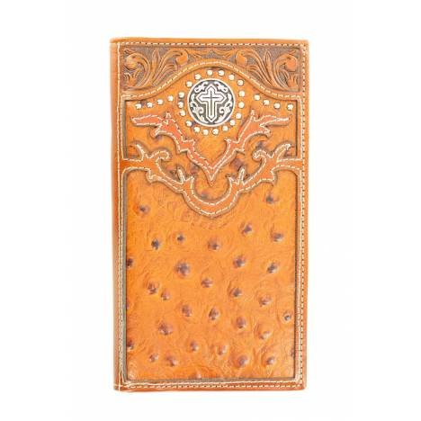 Nocona Rodeo Ostrich Cross Concho Wallet