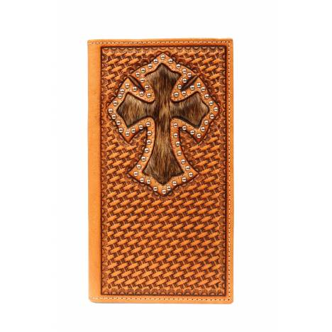 Nocona Rodeo Basketweave Hair Cross Wallet