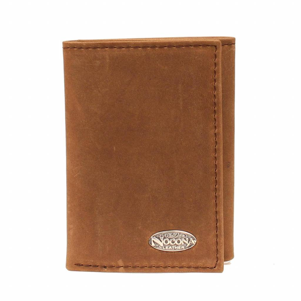 Nocona Smooth Leather Tri-fold Wallet