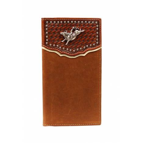 Nocona Rodeo Basketweave with Bull Rider Wallet