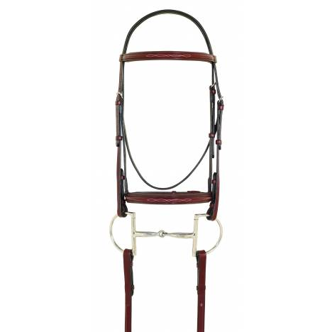 Camelot Fancy Raised Paddled Bridle with Laced Reins