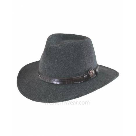 Outback Trading Men'sCollings Worth Crushable Wool Hat