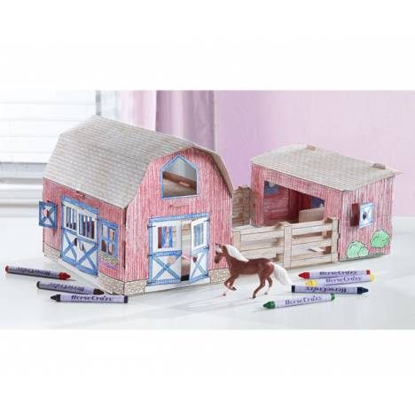 Breyer Stablemates Horse Crazy Create & Color Barn