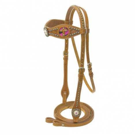 Cowboy Pro Browand Bridle with Cross Inlay