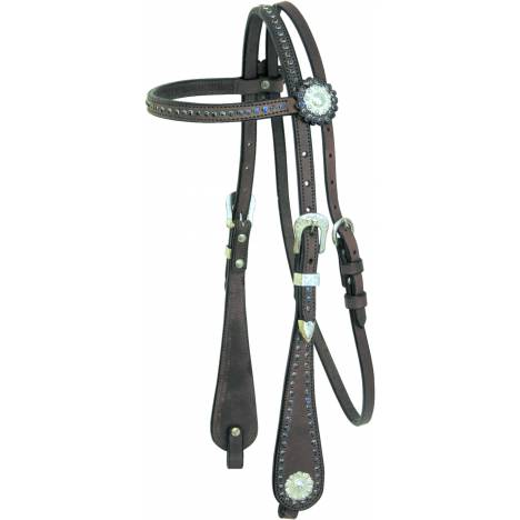 Cowboy Pro Browband Leather Headstall