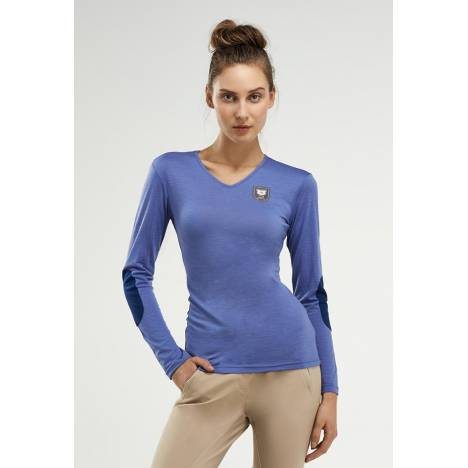 NOEL ASMAR Equestrian Ladies Merino Wool V Neck Sweater