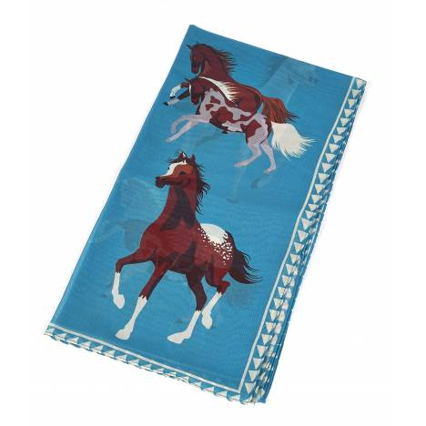 Whimsical Small Running Horse Scarf