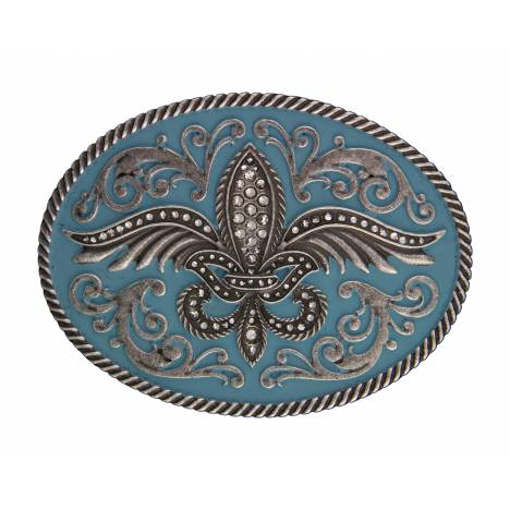 Rock 47 Fleur de Lis on Wings Painted Buckle
