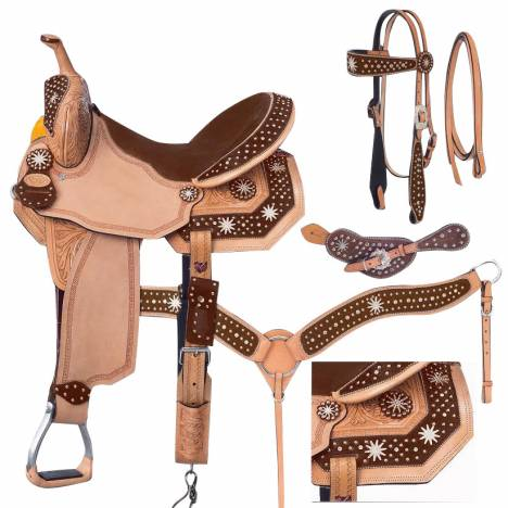 Silver Royal High Noon Barrel Saddle Package