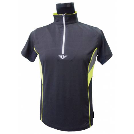TuffRider Neon Ventilated Mock Zip Short Sleeve Shirt