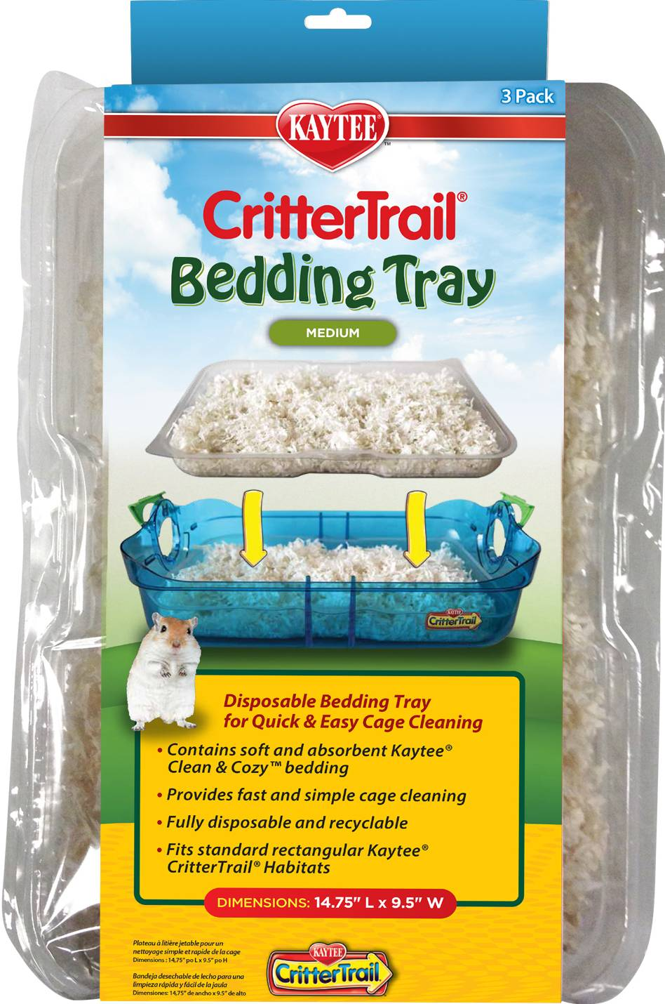 kaytee crittertrail bedding tray | ebay