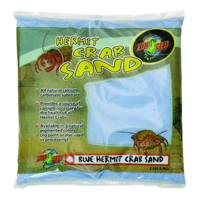 Zoo Med Hermit Crab Sand - Blue - 2 Lb