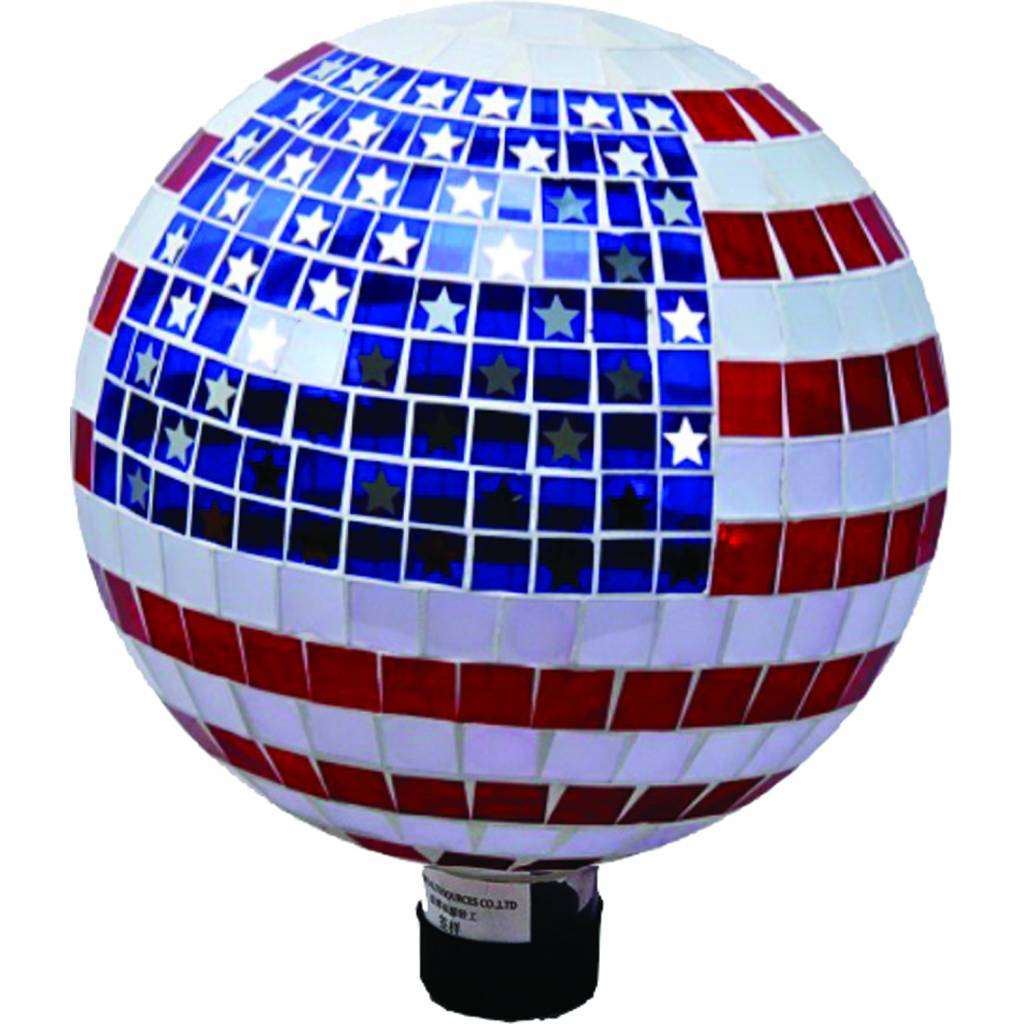 Mosaic Glass Stars And Stripes Gazing Globe