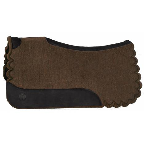 Circle Y Scalloped Square Western Wool Pad