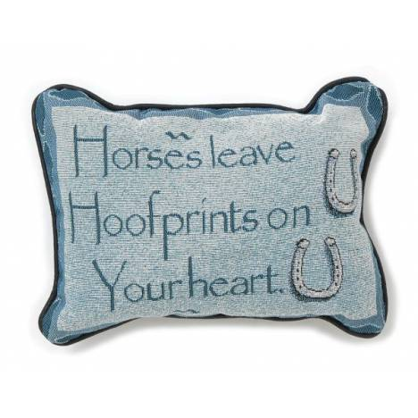 Gift Corral Horses Leave Hoofprints Throw Pillow