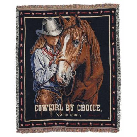 Gift Corral Cowgirl By Choice - Gotta Ride Throw